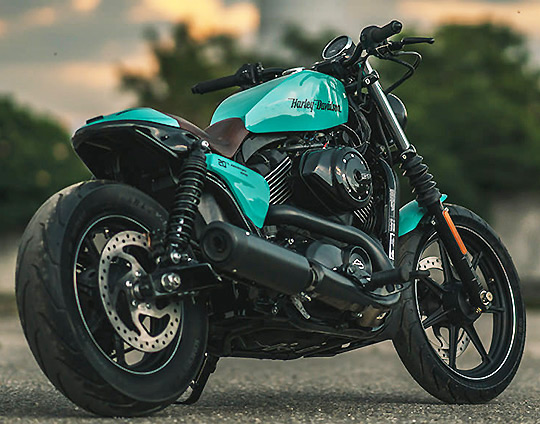 Urban harley street 750 in bad luck green at cyril huze post custom motorcycle news - Harley street 750 images ...