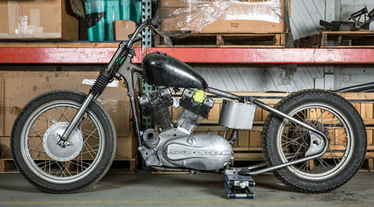 KR Style Bolt-On Hardtail for Harley-Davidson Ironhead Sportsters at ...