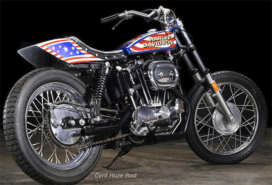 Evel Knievel S 1976 Harley Davidson Goes To Auction: Movie Used 1976 Harley-Davidson XL1000 Evel Knievel To Be