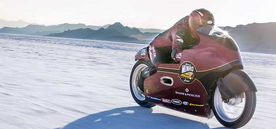 After hitting 191 mph in Bonneville On ?Sprit Of Munro? Scout, Lee Munro Revs Up For 200 mph
