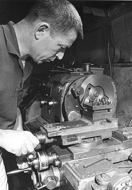 3George-J.-Smith-machining-flywheels---circa-1968