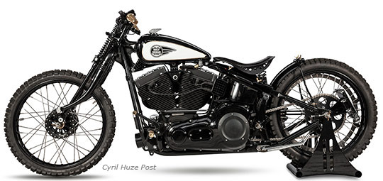 A Custom Harley Softail Named Singapore Sun at Cyril Huze Post