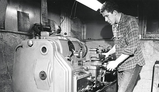 7George-B.-Smith-machining-flywheels---circa-1968