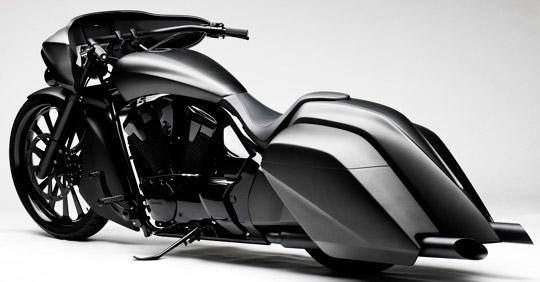 Gorgeous Slammed Honda Vt1300 Conversion At Cyril Huze Post Custom Motorcycle News