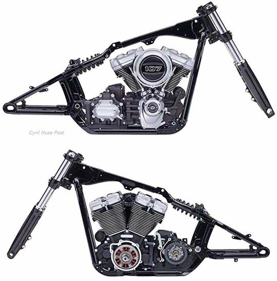 The All-New Harley-Davidson Softail Frame at Cyril Huze Post ...