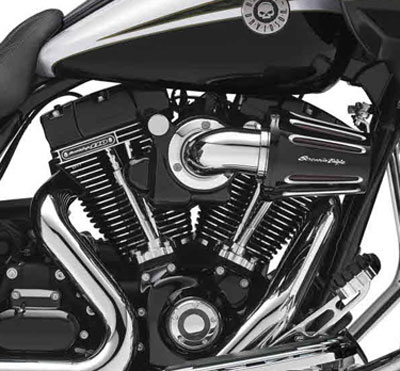 the harley-davidson cvo road glide custom model(fltrxse) is equipped with  an air cooled 110″ twin cam engine (most of rest the lineup uses a 103″