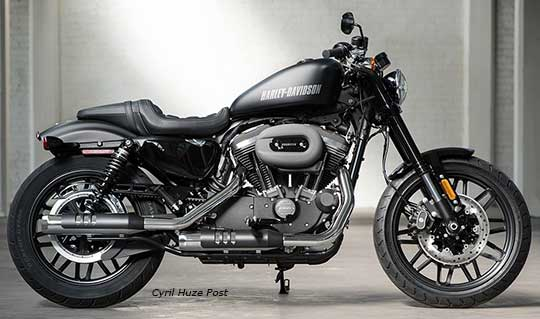 Sportster Roadster With A Look Reminiscent Of Garage Built Custom Blacked Out Styling Details Slammed Bars Chopped Rear Fender Race Inspired