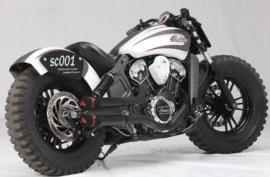 custom indian scout dream of being an off roader at