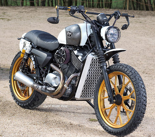 A Harley Street  Goes Off Road At Cyril Huze Post Custom Motorcycle News