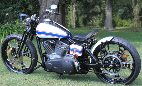 Tracker V � Custom Harley Davidson Dyna: Super-Tracker Custom Harley Dyna At Cyril Huze Post