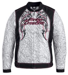 New Harley-Davidson Women's Primitive Mesh Jacket And Half Helmet