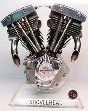 Shovelhead Engine Scale Model Running Like The Original  at Cyril