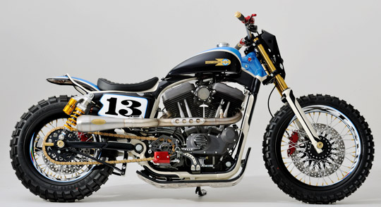 custom dirt track style harley sportster at cyril huze post custom motorcycle news. Black Bedroom Furniture Sets. Home Design Ideas