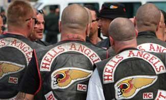 Man Moons And Throws Puppy At Hells Angels Bikers at Cyril