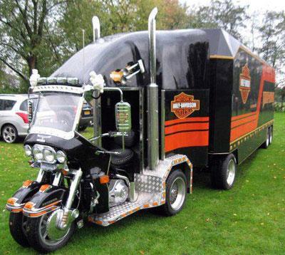 Image Of The Week. Harley Mini Semi Truck. at Cyril Huze ...