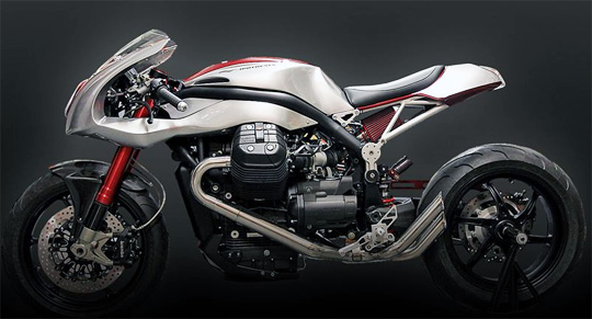 Based On The Motto Guzzi Griso 1200 8 Valve Engine This Custom Cafe Racer Creation Is Work Of Italian Filippo Barbacane Following An Idea Launched By