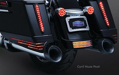 New Kuryakyn L E D Saddlebag Extensions For Harley Davidson