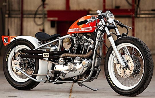 DP Custom Ironhead Bobber At Cyril Huze Post Motorcycle News