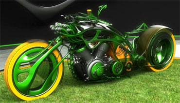 Eco Friendly Concept Motorcycle Not So At Cyril Huze