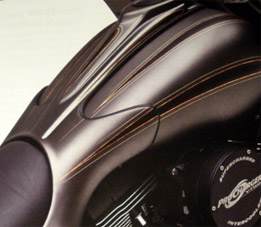 Gas Tank Extension For Harley Davidson Touring Motorcycles At Cyril Huze Post Custom Motorcycle News