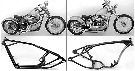 Paughco Sportster Rubber Mounted Rigid Chopper Frames at Cyril Huze ...