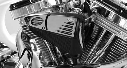 Custom Motorcycle Air Cleaner Cover : New galaxy air cleaners by italian rebuffini at cyril huze