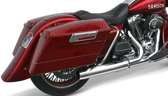 Kenny Price The Boss Of Samson Motorcycle Products Claims That His New Two Into One Exhaust System Featured Here Is Most Powerful Ever Made: Road King Exhaust Systems At Woreks.co