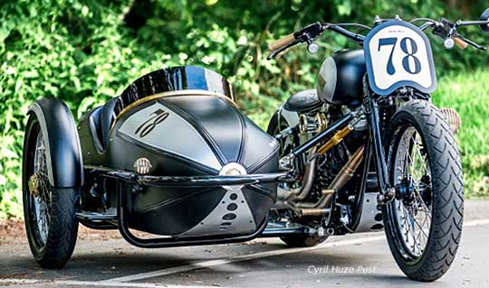 Harley Cross Bones Sidecar at Cyril Huze Post – Custom