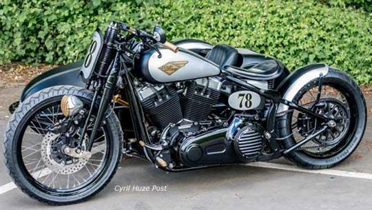 Harley Cross Bones Sidecar At Cyril Huze Post Custom