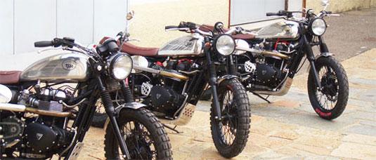 Limited Production Custom Triumph Scrambler At Cyril Huze Post