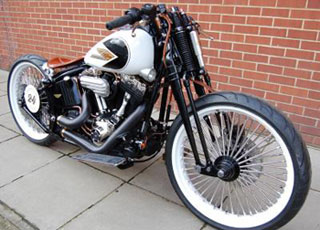 Custom Harley-Davidson Cross Bones. Petrali Style. at Cyril Huze ... dc309630e6b
