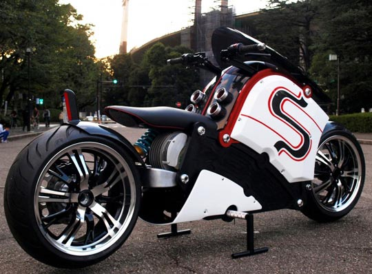 Radical Japanese Electric Motorcycle At Cyril Huze Post